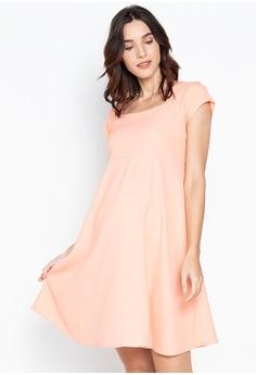 c1b8e46ecc81e BUNTIS pink Daniella Square Neck Maternity Dress 0A753AA0480C6CGS_1