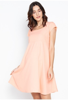 feeeaed241f46 BUNTIS pink Daniella Square Neck Maternity Dress 0A753AA0480C6CGS_1