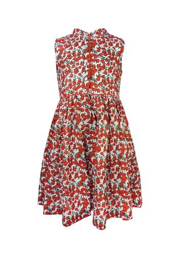 Viva Vida Kids red Ava Dress Apples 7C0B7KAC7CE11DGS_1