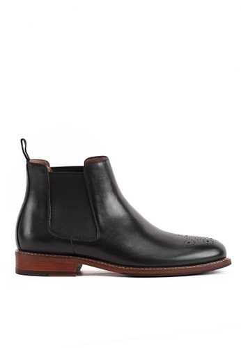 Twenty Eight Shoes black Bittters Vintage Leather Chelsea Boot 618-169 A3FD5SHD8155F2GS_1