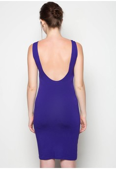 Mini Dress Sleveless Plain