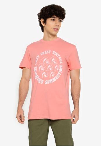 Springfield pink Summertime T-Shirt B9CDBAACBD58F0GS_1