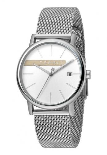ESPRIT silver Esprit Men Timber Silver Mesh ES1G047M0045 C4AE9AC0183B34GS_1