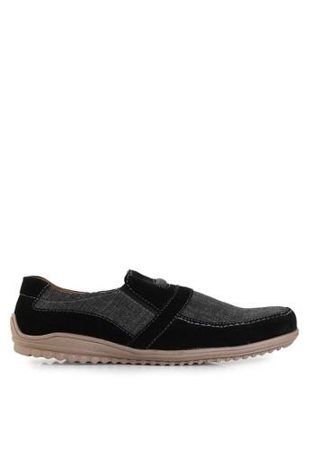 Dr. Kevin black Loafers, Moccasins & Boat Shoes Shoes 13246 Hitam Canvas DR982SH10UENID_1
