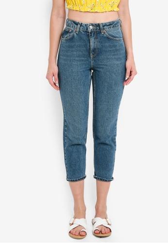 TOPSHOP blue Petite Mom Jeans 34A7AAA4C8D0C9GS_1
