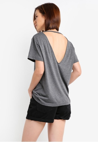 ZALORA BASICS grey Essential Open Back Tee 5A382AAE6F5E45GS_1