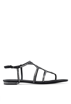 7ac6059e72db0 ALDO black Ganiel Gladiator Sandals 2458ASHFAA459EGS_1