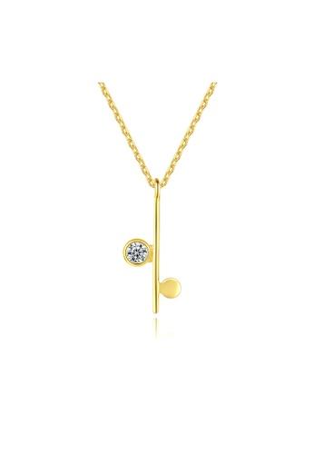 SUNRAIS gold Premium Silver S925 Gold Simple Design Necklace 468FBAC58EF590GS_1