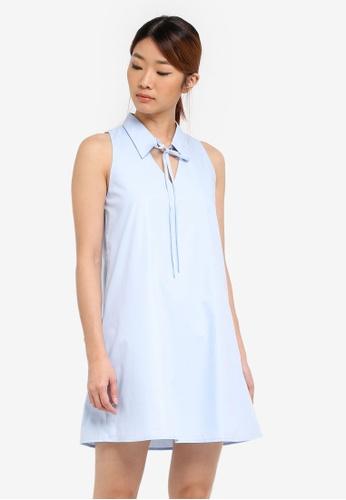 Something Borrowed blue Cut-In Collared Swing Dress 5D47BAA6CAC75FGS_1