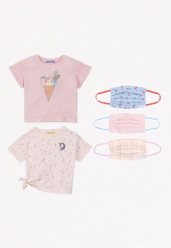 Gingersnaps multi Girls Ice Cream Dream Mask And Tshirt Set 77528KA773FD8FGS_1