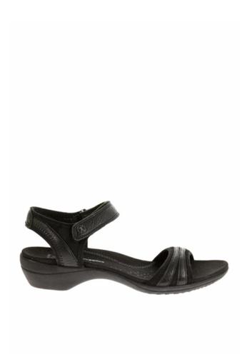 Hush Puppies black Athos The Body Shoe Sandals HU326SH57UKGPH_1