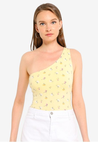 Hollister yellow Bare One Shoulder Top 3ED7AAA7BDD1B8GS_1