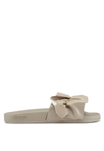 Slydes beige Vertigo Sandals 8CF17SHC9C699AGS_1