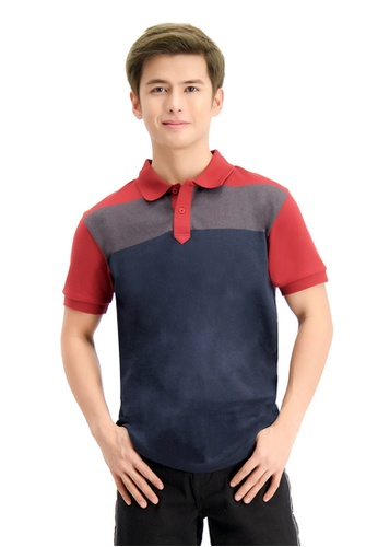 BENCH multi Color Block Polo Shirt 2A445AA174D26BGS_1