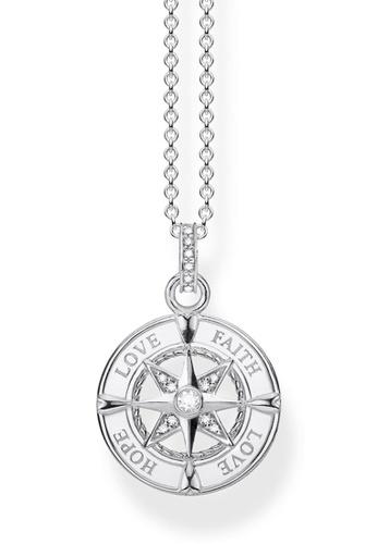 "THOMAS SABO silver necklace ""compass faith, love, hope"" 34061AC7C34FB5GS_1"