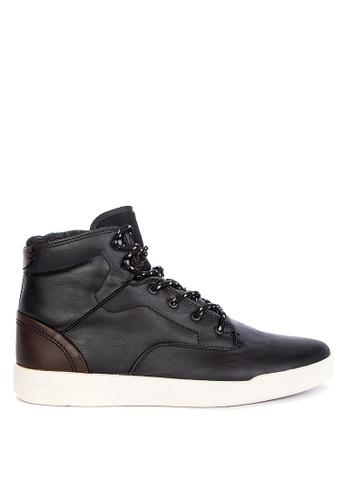 Topman black Black Ranger Hi Top Boots 3E455SH7EF549EGS_1