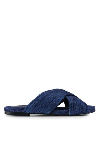 TOPSHOP blue Blue Rope Sliders 6382BSH954BDCCGS_1