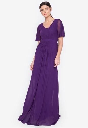 Tantease purple Regina Long Dress D95D7AA1E68BB4GS_1