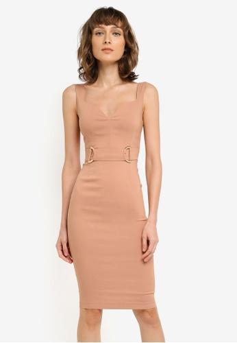 Vesper beige Braxten Sweetheart Dress VE733AA0SM1TMY_1