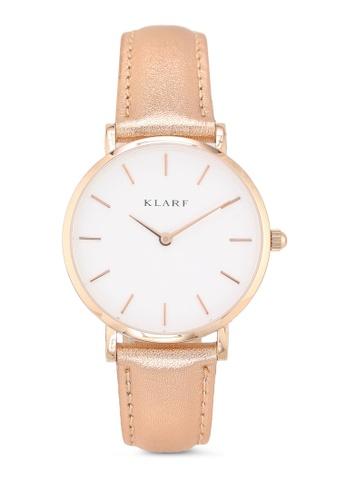 Klarf gold Petite Watch With Leather Bracelet FDC87AC9C07E9EGS_1