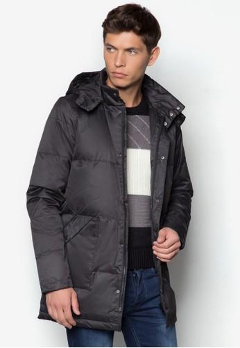 長版連帽羽絨esprit outlet 桃園外套, 服飾, 冬裝外套