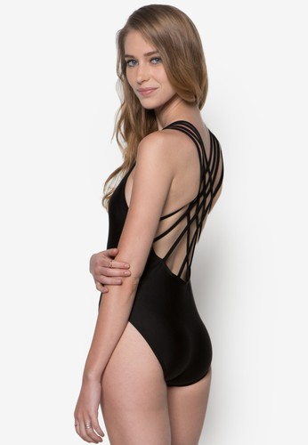 Estela 交叉多帶連esprit salon hk身泳裝, 服飾, 泳褲及沙灘造型