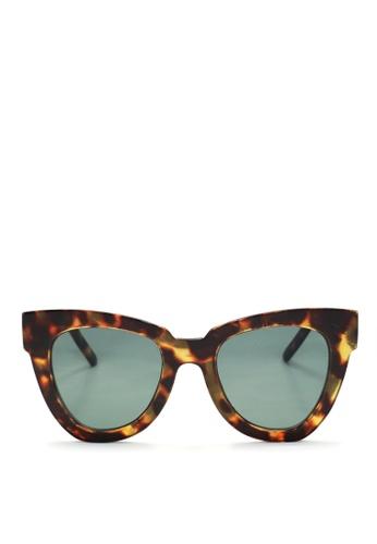 Kaca-kaca brown Kaca Kaca Clio Leopard Sunglasses KA666AC0SZGDMY_1