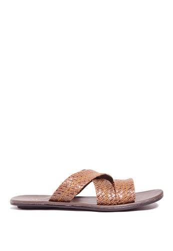 Dr. Kevin brown Dr. Kevin Mens Clasic Leather Sandal 17214 - Brown DR982SH0US9NID_1