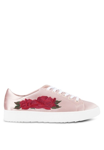 Mango pink Satin Embroidery Sneakers MA193SH38BXPMY_1