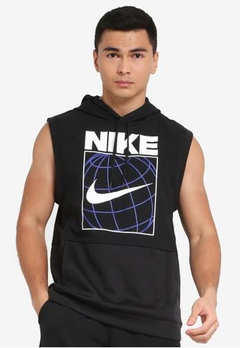 Nike black Dri-FIT Sleeveless Graphic Training Hoodie 1F424AA6A4A557GS_1