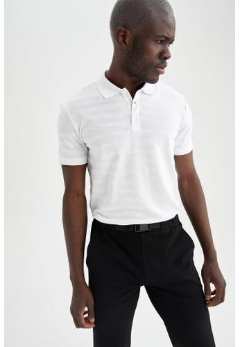 DeFacto white Short Sleeve Polo T-Shirt 38B90AA0A0D451GS_1