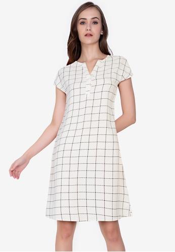 ZALORA WORK multi Placket A-Line Mini Dress FB504AA096D77EGS_1