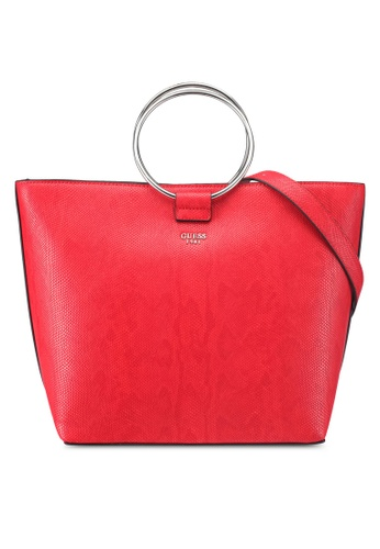 Guess red Keaton Tote 81A7AAC910E069GS_1