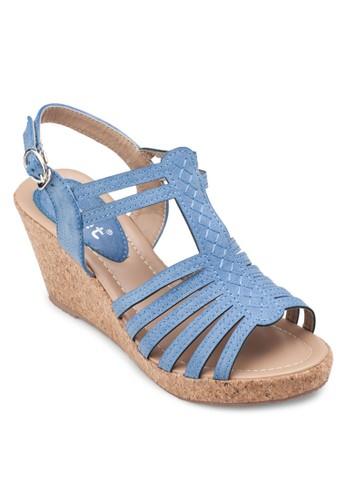 多帶繞踝楔形涼鞋, 女esprit門市地址鞋, 楔形涼鞋