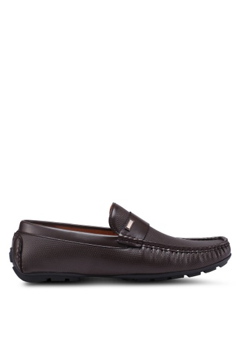 Bata brown Slide-On Loafers 87CD9SH799E745GS_1