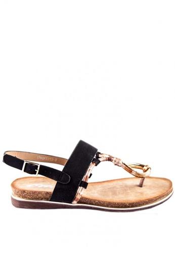Otto black Buckled Slingback Sandals F8E5FSHC114AF8GS_1