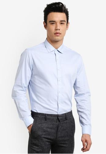 MANGO Man blue Slim Fit Shirt MA449AA0RAY3MY_1