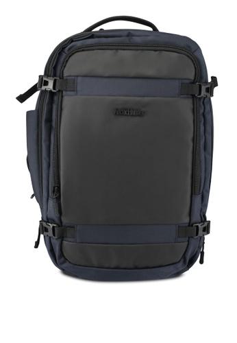 Bagstationz blue and navy Premium Coated Trim Laptop Backpack BA607AC0SBHHMY_1