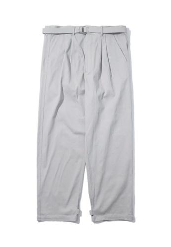 Fivecm grey Belted drop crotch pants 562A2AA690D2D6GS_1