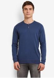 Indicode Jeans navy Taylor Grandad Sweatshirt IN815AA0ROLUMY_1