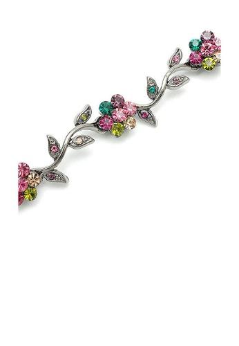 Glamorousky multi Leafy Flower Bracelet with Multi-colour Austrian Element Crystals E41A3ACCE7A104GS_1