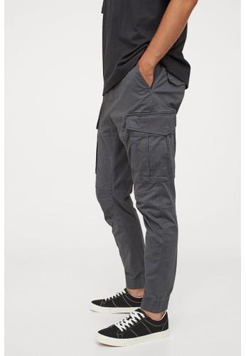 H&M grey Cargo joggers 7E195AAB7FA457GS_1