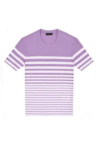 D'urban purple Striped T-Shirt EAA60AA8A70C36GS_1