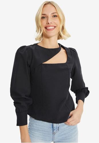 Trendyol black Long Sleeve Top 77199AA32F02F3GS_1