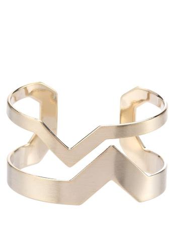 Wanderlust + Co gold Double-V Gold Cuff WA415AC35VJOMY_1