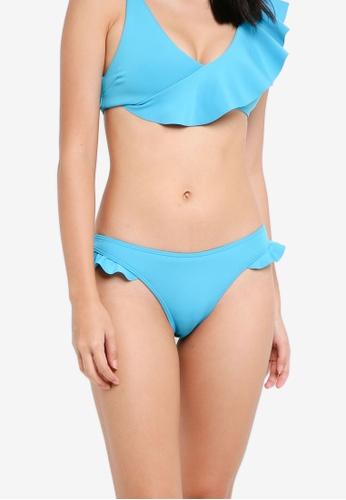 River Island blue Blue Frill High Leg Bikini Bottoms F4E33US106342DGS_1
