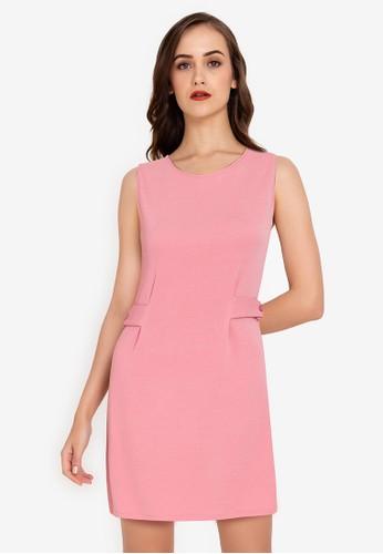 ZALORA WORK pink Buttoned Waist Mini Dress 530A6AAD0FA2C5GS_1