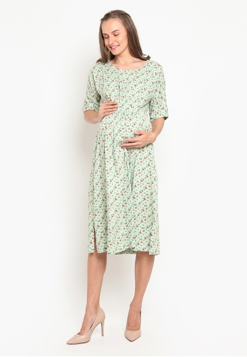 Chantilly green 2in1 Dress Maternity/Nursing with Slimming Effect E6F2DAAADE41F0GS_1
