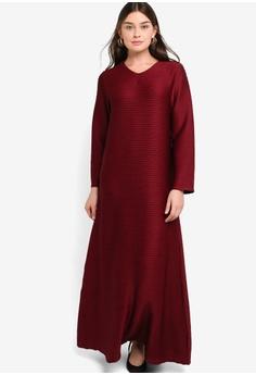 6069fef6a4e ZALIA BASICS red Basic V-Neck Dress 5EF64AAB3B492EGS 1