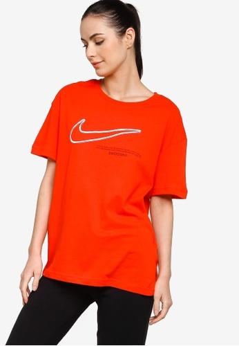 Nike red Sportswear Swoosh Boy T-Shirt 7D530AA15F7D91GS_1